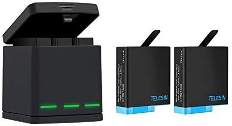 Kit Telesin caricabatterie e batterie per GoPro